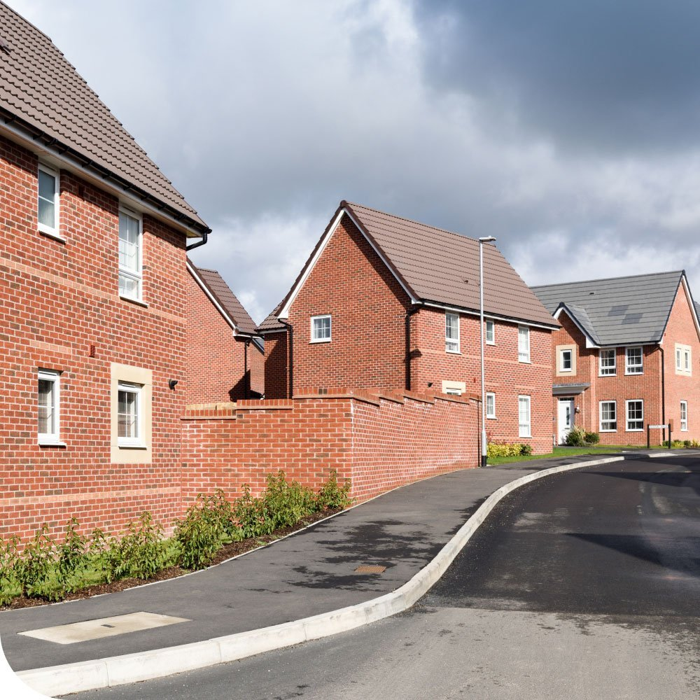 New build housing estate